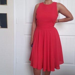 Peekaboo Red dress
